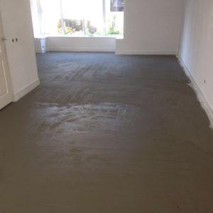Defan stoffering - Vloer verwarming voorbereiding